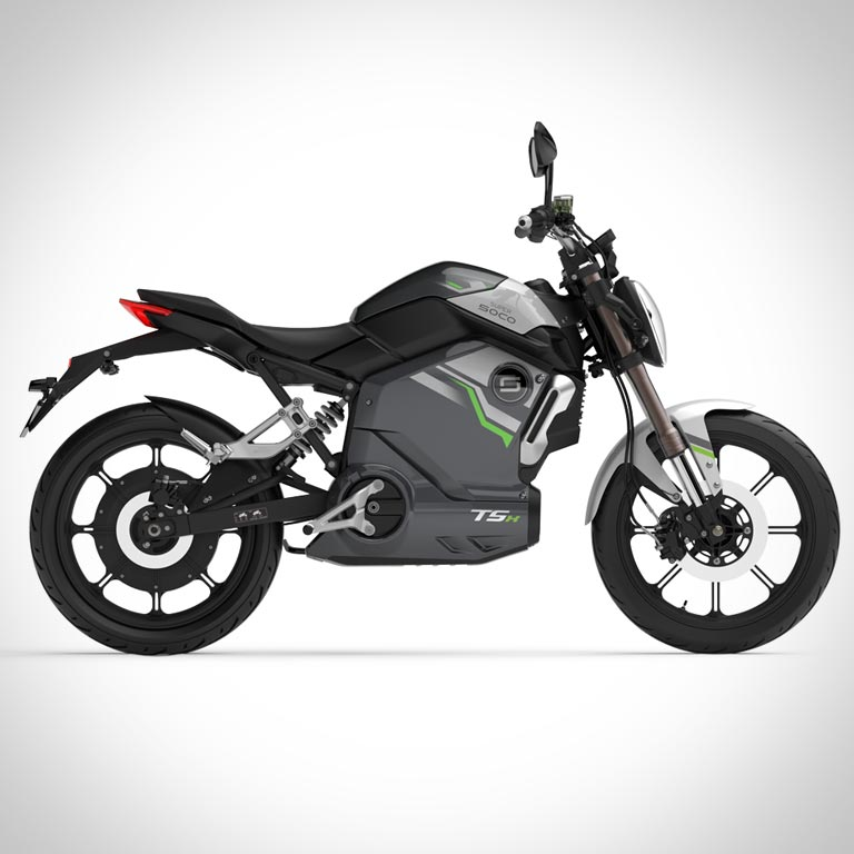 Elektromotorrad Super Soco TSx Seitenansicht