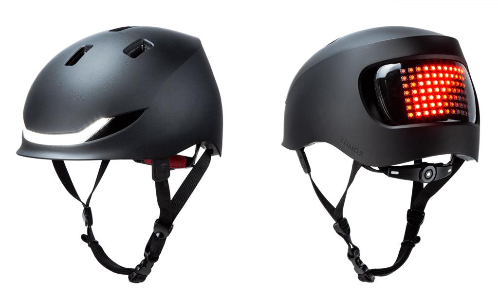 Lumos Matrix Fahrradhelm in schwarz mit LED und Blinker von vorne und von hinten