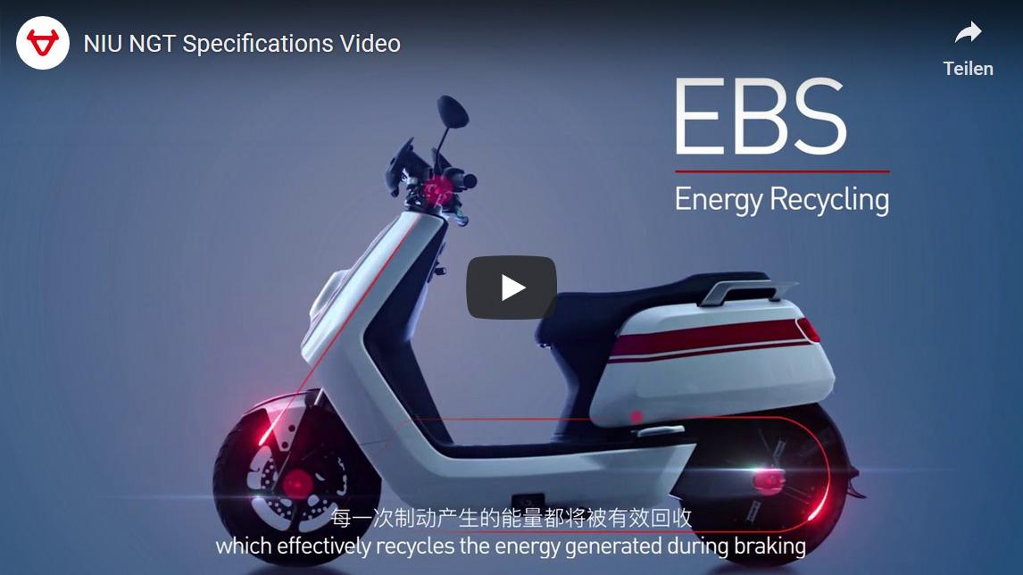Elektroroller NIU NGT eScooters - All New NGT EBS