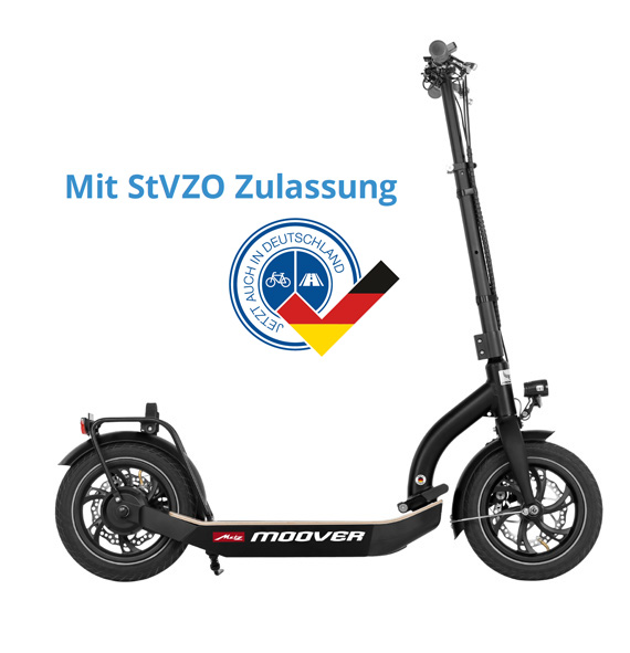 eScooter Metz Moover in schwarz Seitenansicht