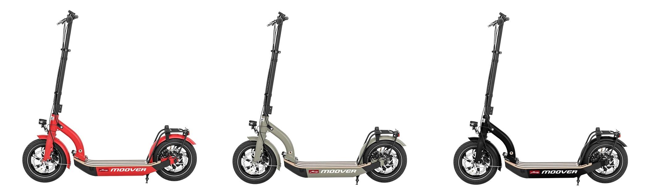 eScooter Metz Moover in rot grau schwarz Seitenansicht