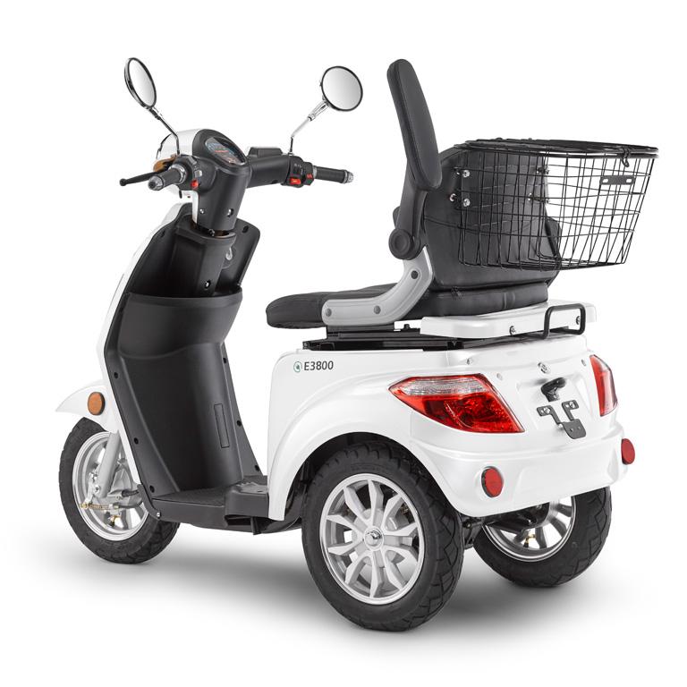 Elektroroller für Best Ager Dreirad in weiss LuXXon3800