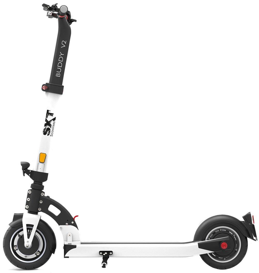 eScooter SXT Buddy in weiss SEitenansicht