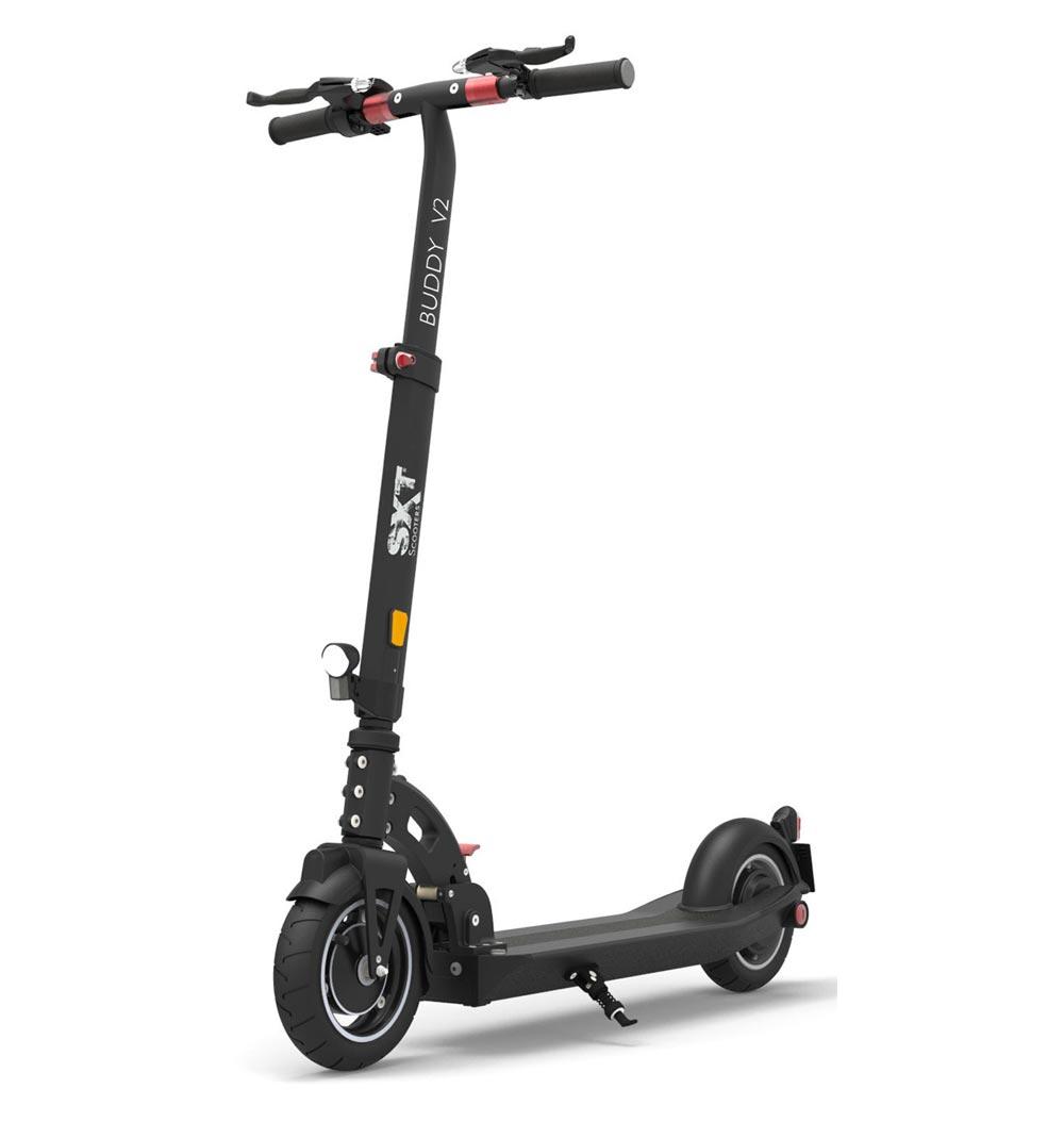eScooter SXT Buddy in schwarz SEitenansicht