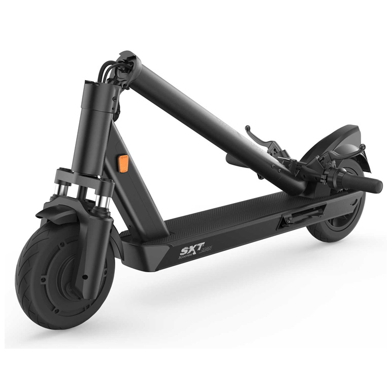 eScooter SXT Max schwarz geklappt Frontansicht