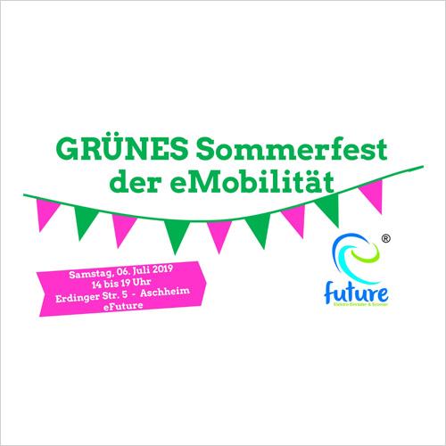Elektroroller und eScooter testen auf dem Sommerfest der eMobilität mit den Grünen