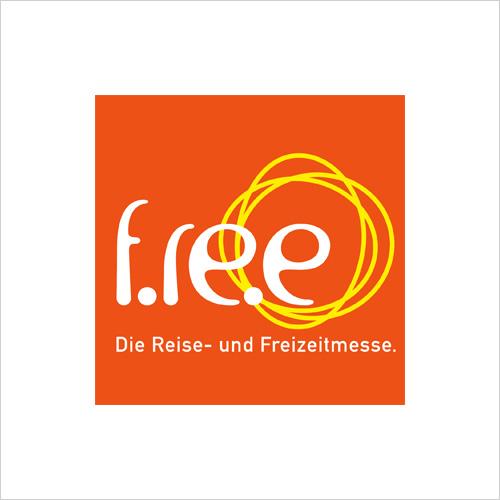 Elektroroller und eScooter auf der f.re.e der Reise- und Freizeitmesse in München LOGO