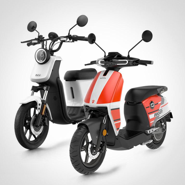 Elektroroller NIU U und Super Soco Ducati