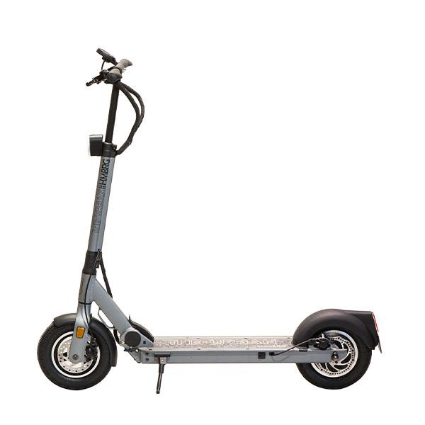 eScooter URBAN #HMBRG grau in Seitenansicht