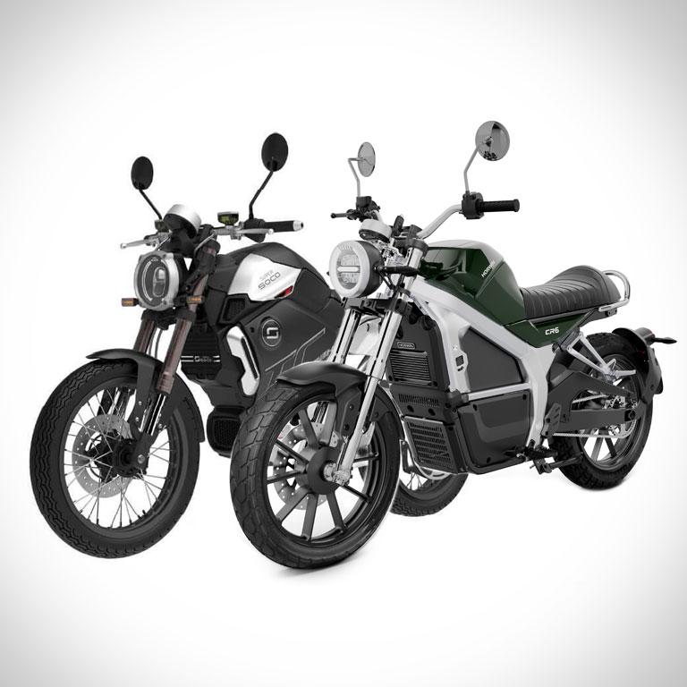 Elektromotorrad Super Soco TC Max und Horwin CR6 Seitenansicht