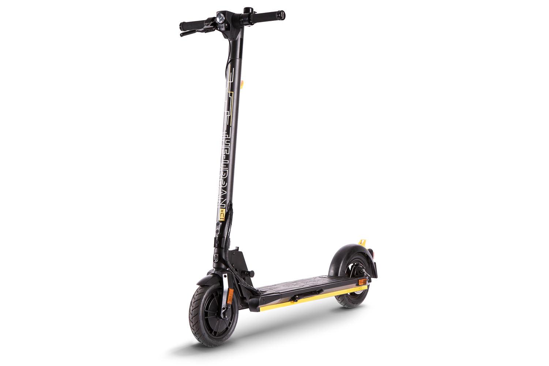 eScooter The Urban xC1 schwarz mit gelb Seitenansicht