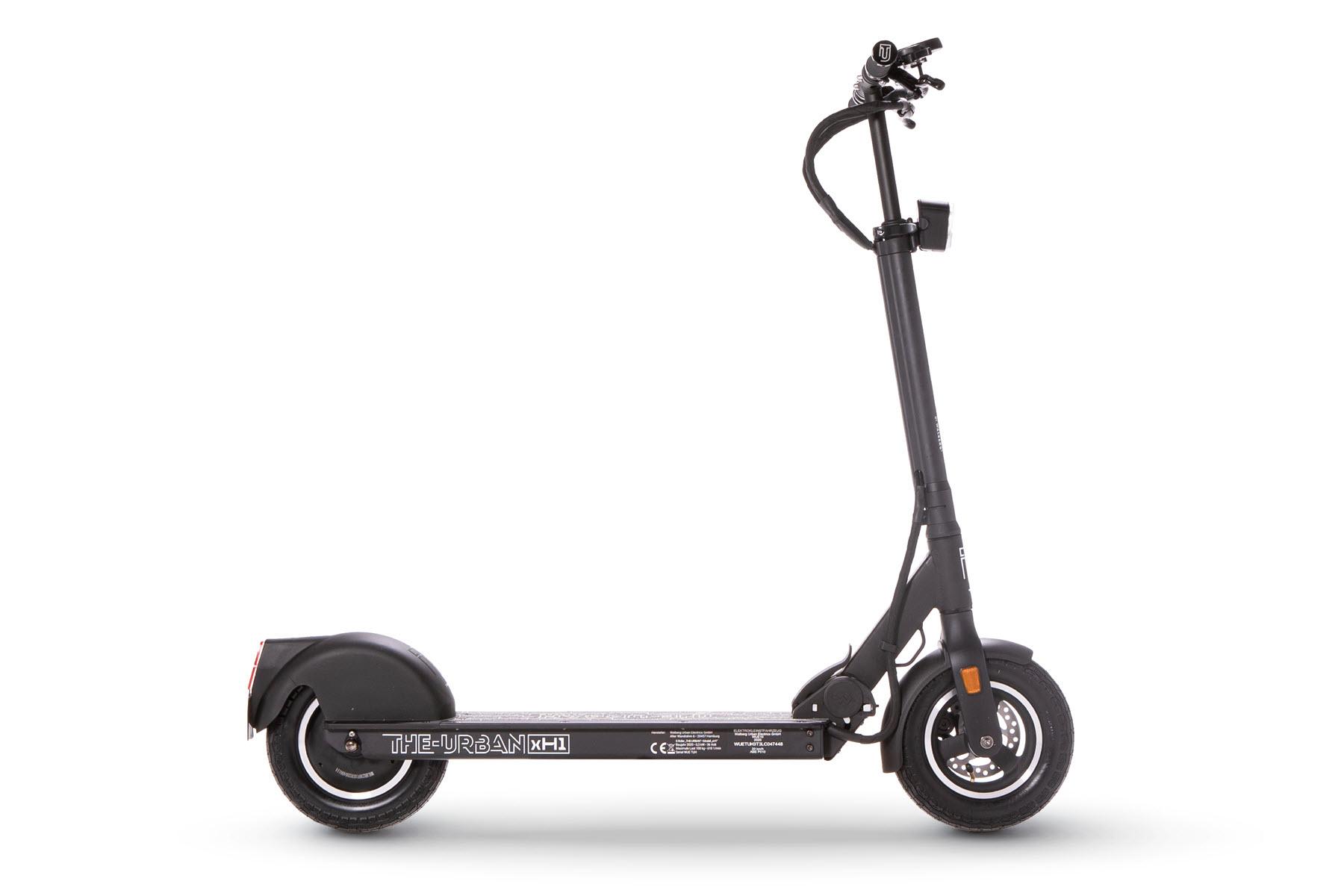 eScooter The Urban xH1 schwarz Seitenansicht