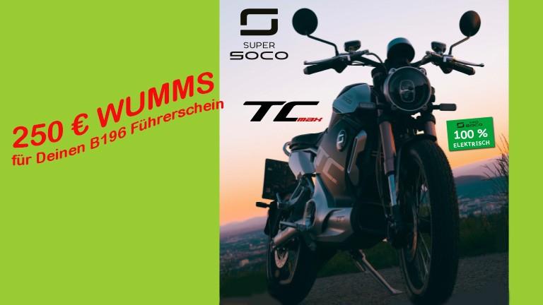 Super Soco Wumms 250€ für Führerschein