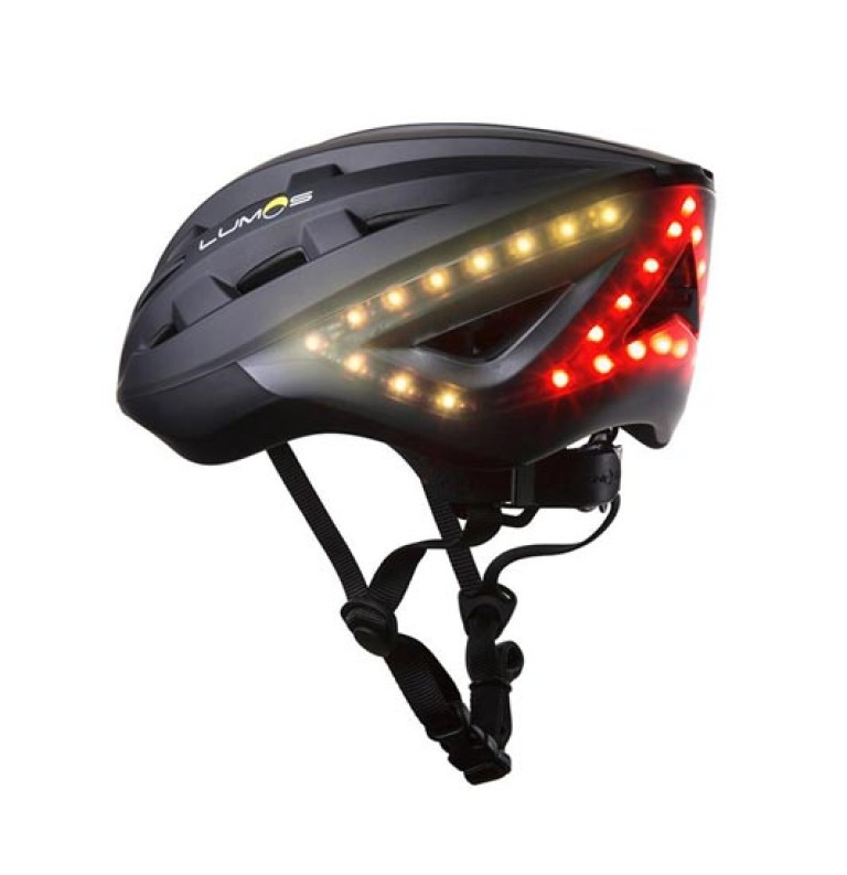 LUMOS Fahrradhelm mit integrierten LEDs und Blinkfunktion in schwarz