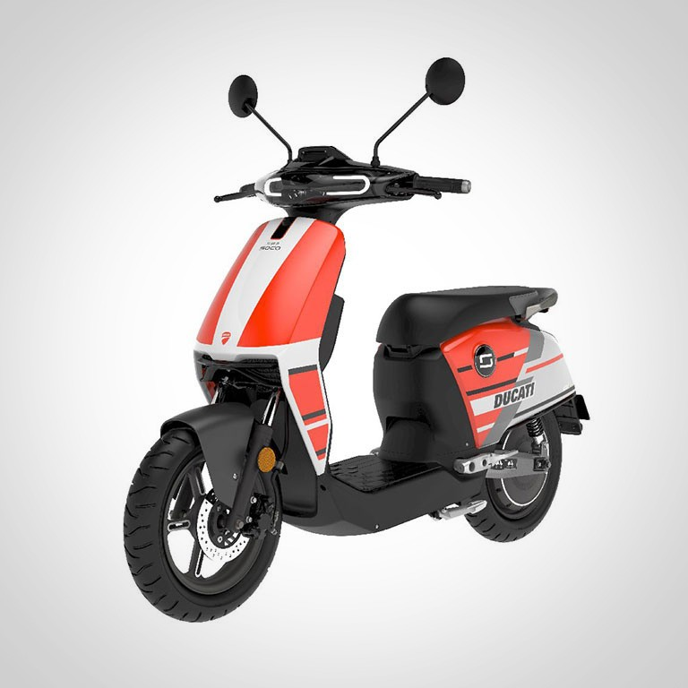 Elektroroller Super Soco CUX Ducati Seitenansicht