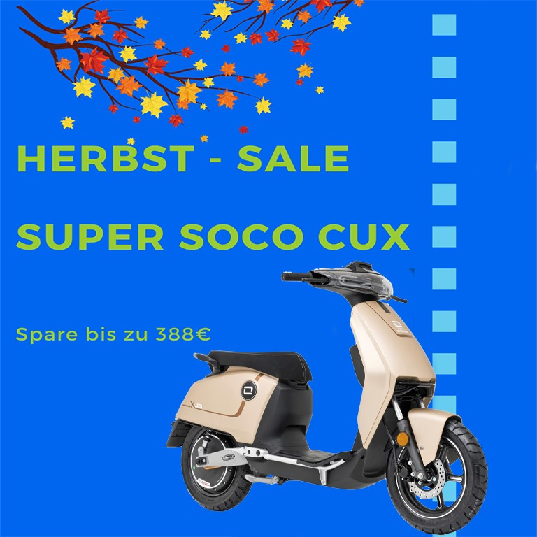 Herbstsale Super Soco CUX