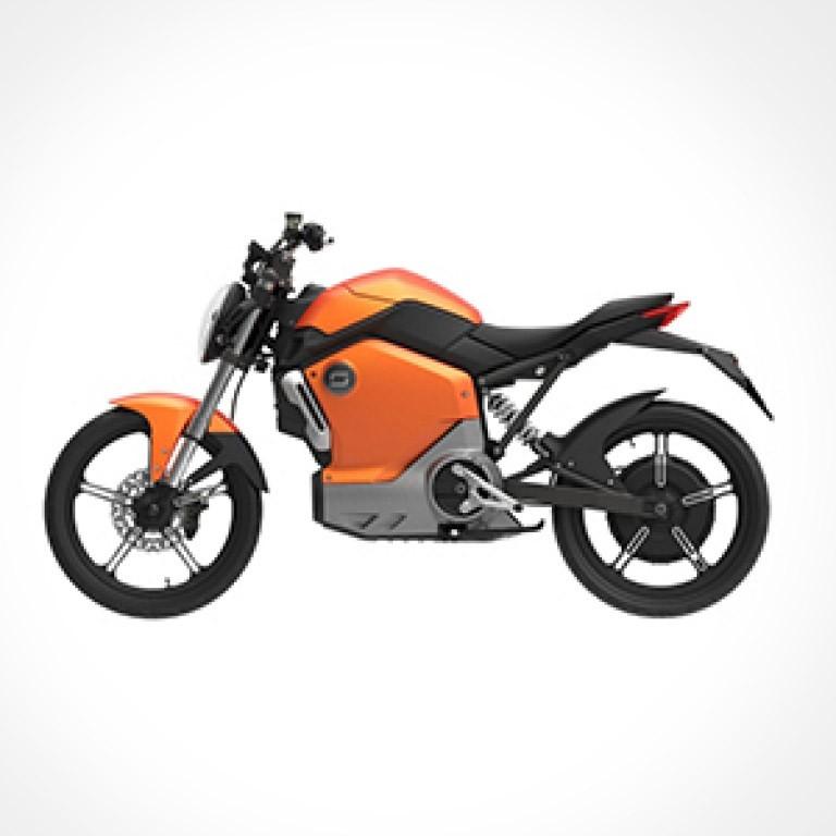 Elektroroller Super Soco TS Orange Seitenansicht
