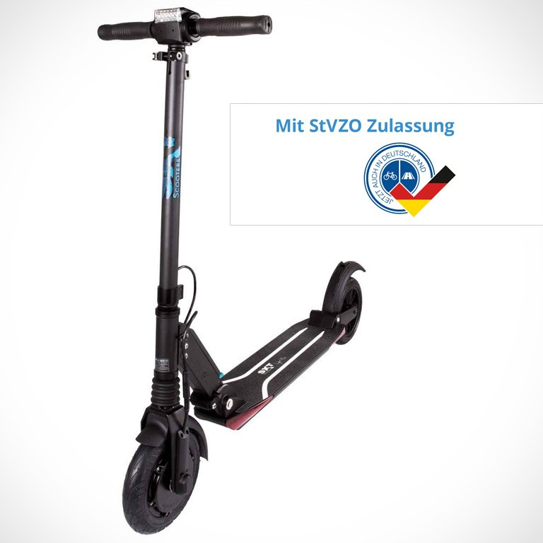 eScooter SXT Light+V mit StVZO in schwarz Seitenansicht