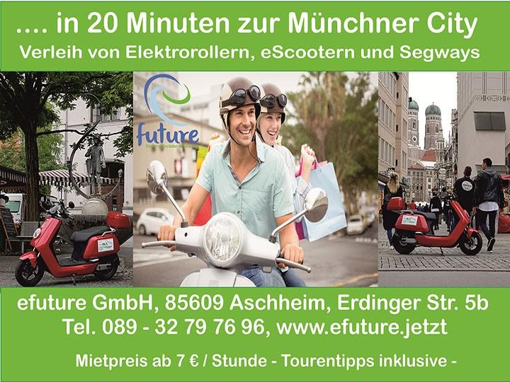 Leih dir deinen ElektroRoller in 20 Minuten zur Münchner City
