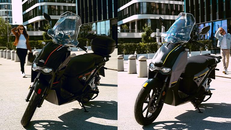 Super Soco CPX beide Farben Frontansicht