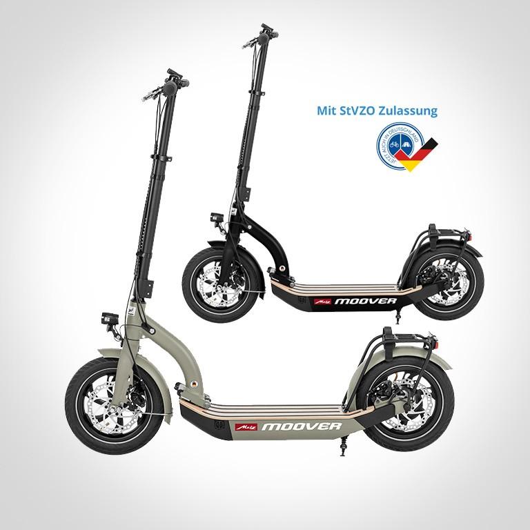 eScooter Metz Moover in schwarz grau Seitenansicht