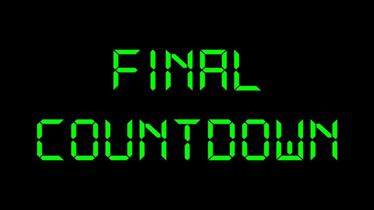 Final Countdown black green