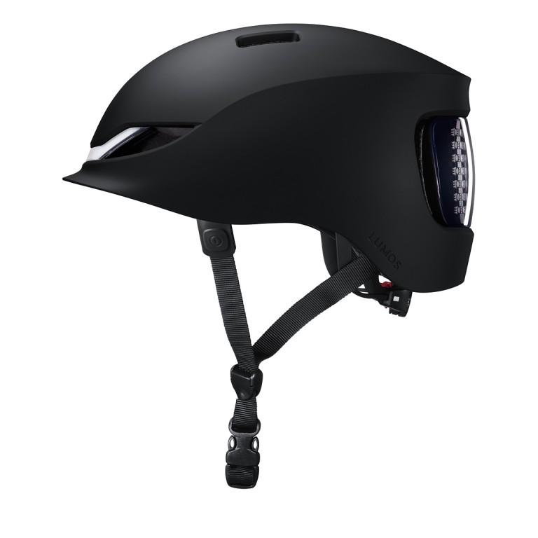 Lumos Matrix Fahrradhelm in schwarz mit LED und Blinker