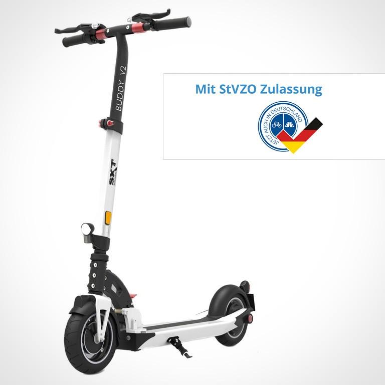 eScooter SXT Buddy mit StVZO in weiss Seitenansicht